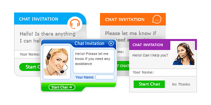 Chat invitation designs