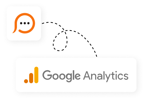 Live chat and Google Analytics integration